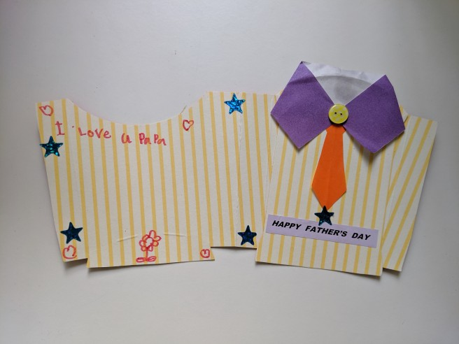 Membuat kartu ucapan selamat hari ayah